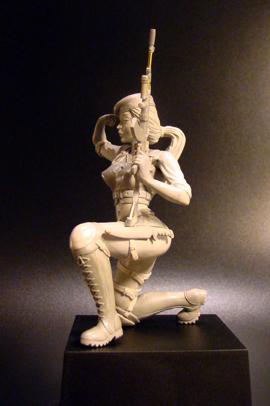 Sculpture: Russian Army Girl, photo #2