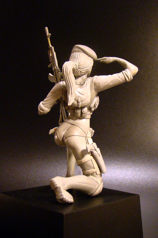 Sculpture: Russian Army Girl, photo #4