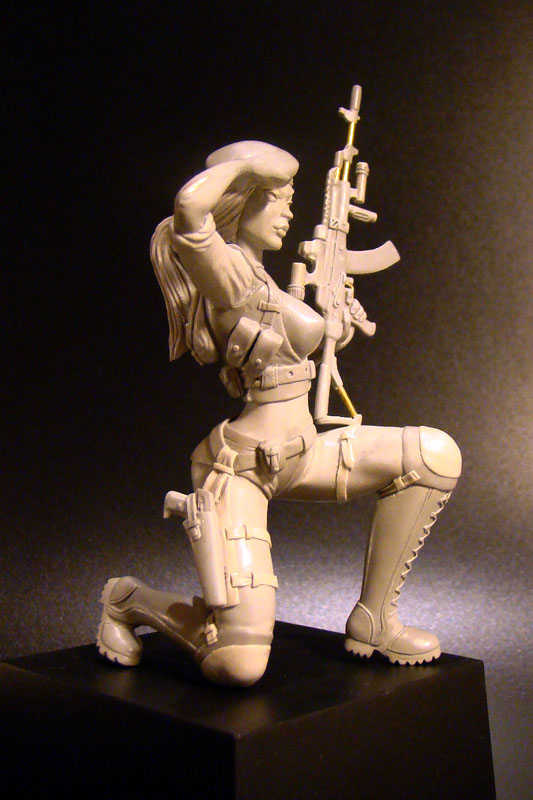 Sculpture: Russian Army Girl, photo #5