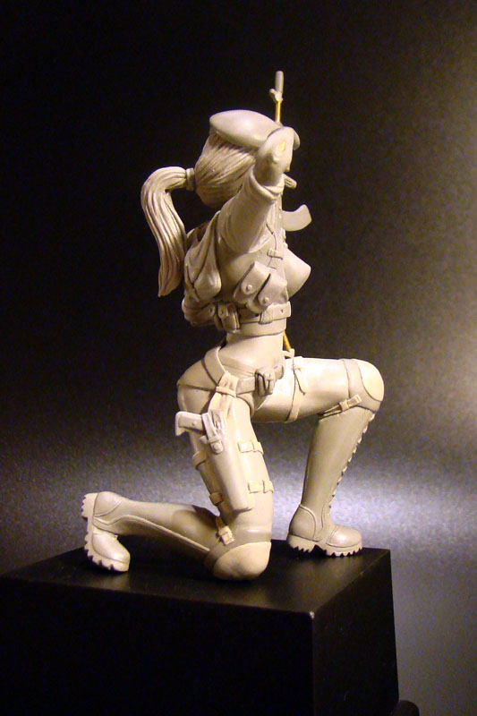Sculpture: Russian Army Girl, photo #6