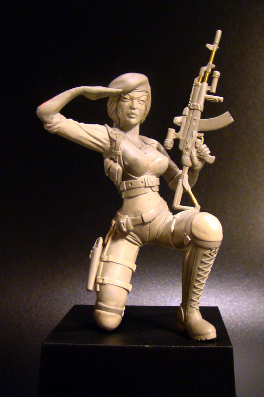 Sculpture: Russian Army Girl, photo #7