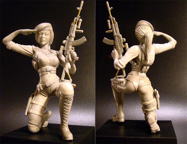 Sculpture: Russian Army Girl