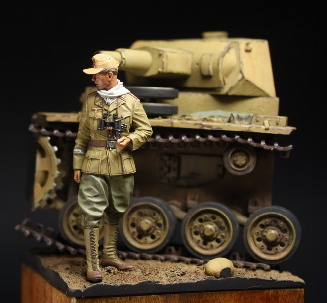 Dioramas and Vignettes: German officer, DAK, photo #1