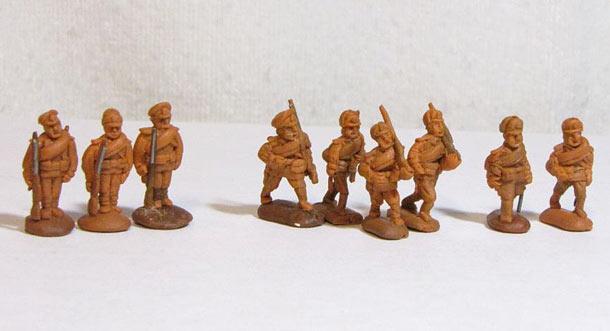 Sculpture: Russian civil war. White Army