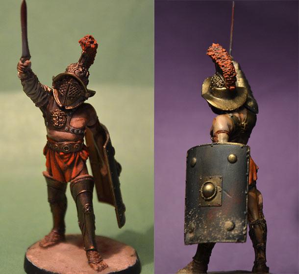 Figures: Mirmillo, Roman gladiator