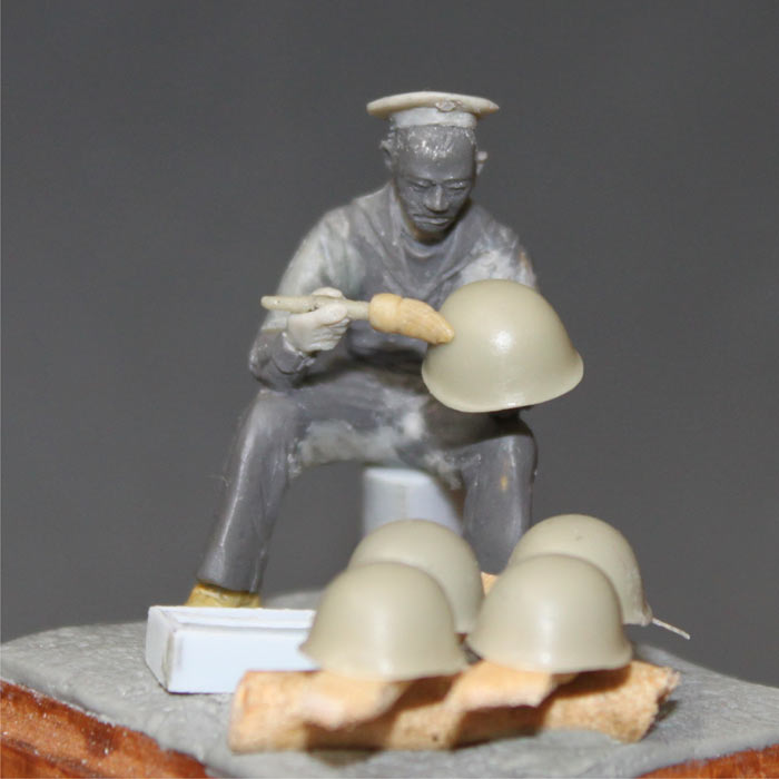Sculpture: Soviet sea cadet, 1942, photo #10