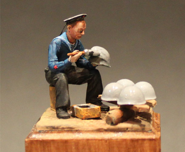 Sculpture: Soviet sea cadet, 1942