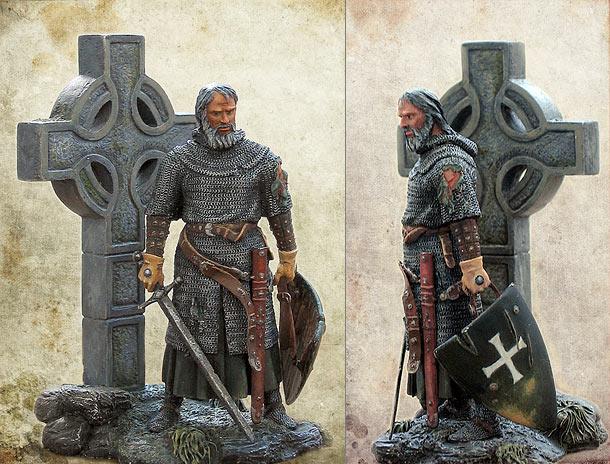 Figures: Irish knight, XIV century