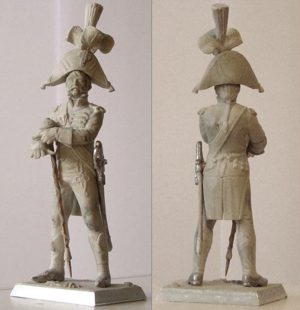 Sculpture: Tambour-major, 5th line infantry regt., France, 1810