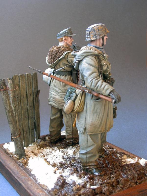 Figures: Machine gun crew, «Totenkopf» SS div., Kharkov, 1943, photo #5