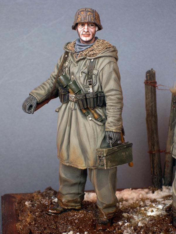 Figures: Machine gun crew, «Totenkopf» SS div., Kharkov, 1943, photo #8