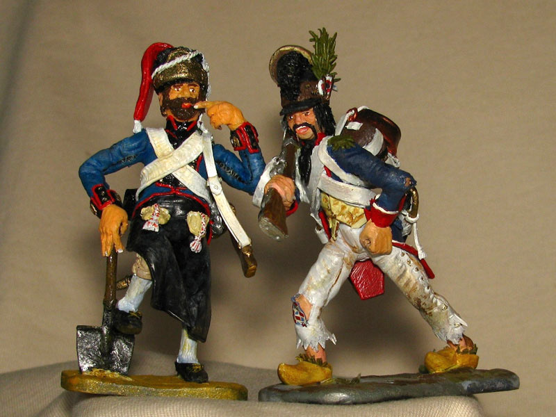 Training Grounds: Spanish pioneer and French infantryman, photo #1
