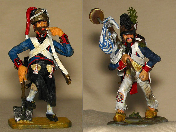 Training Grounds: Spanish pioneer and French infantryman