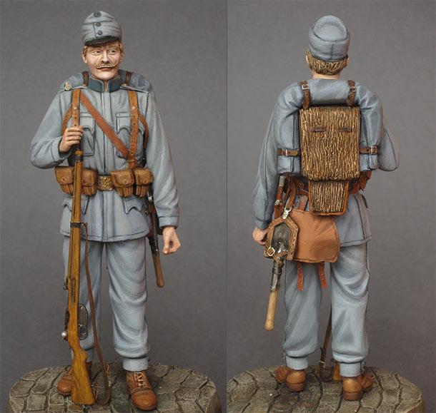 Figures: Austrian-Hungarian infantryman, 1914