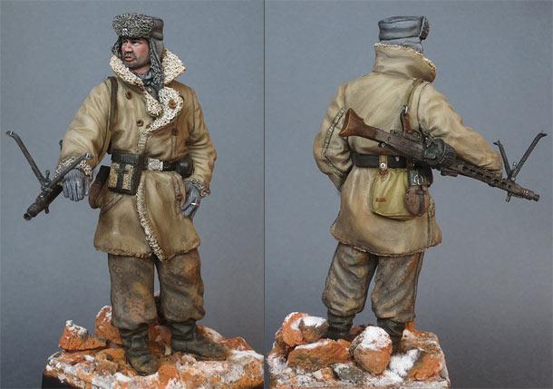 Figures: SS machine gunner, Budapest, 1944-45