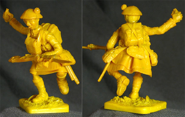 Sculpture: Scotch trooper, WWI