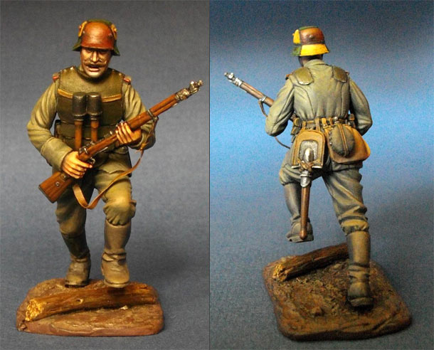 Figures: German storm trooper, WWI