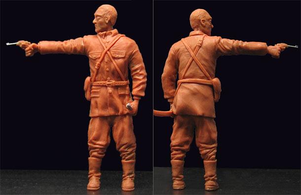 Sculpture: Japanese officer, 1942