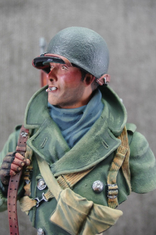 Figures: U.S. infantryman, winter 1944-45, photo #1