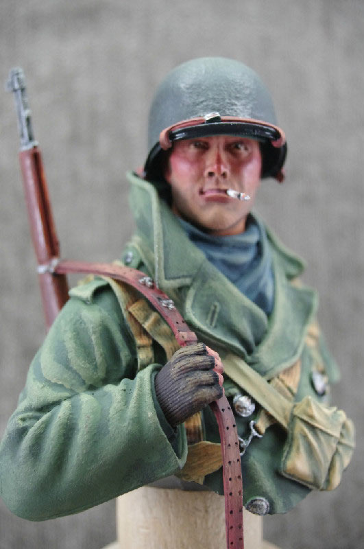 Figures: U.S. infantryman, winter 1944-45, photo #6