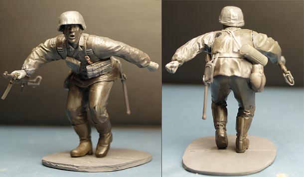 Sculpture: Waffen-SS trooper