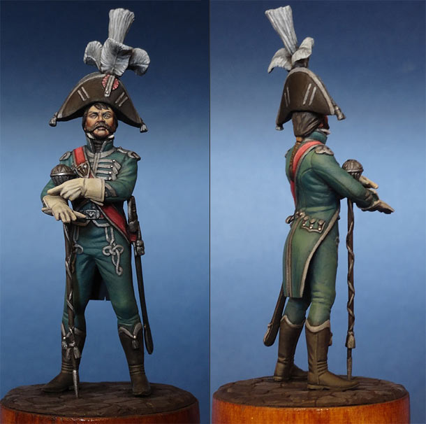 Figures: Tambour-major, French army, 1810