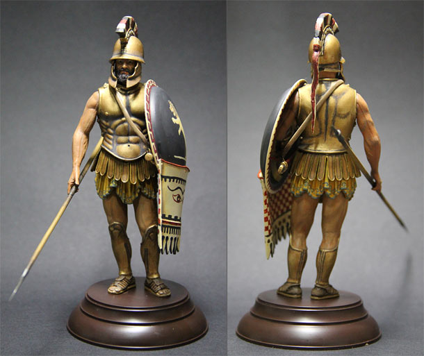 Figures: Greek hoplite, IV cent. B.C.