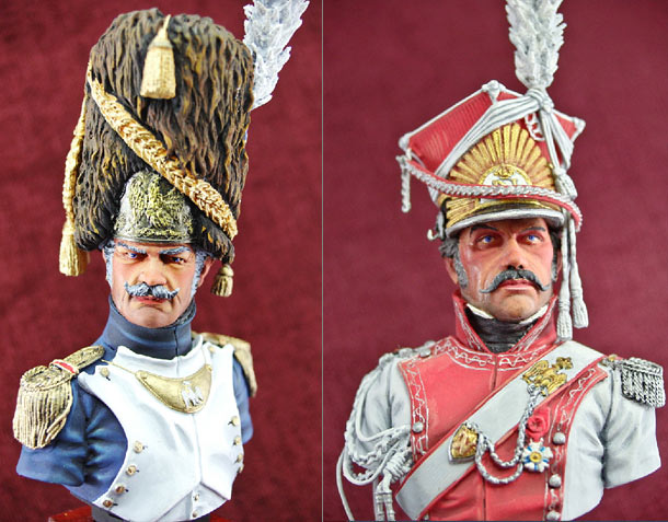 Figures: Polish lancer and Imperial Guard grenadier.