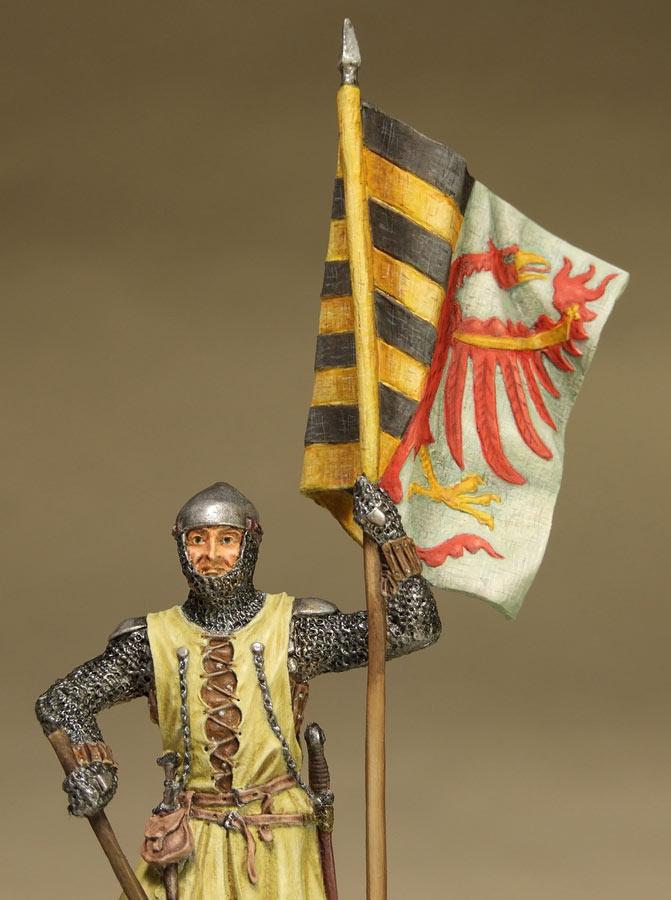 Figures: Saxon standard bearer, mid XIV century, photo #10