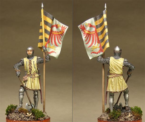 Figures: Saxon standard bearer, mid XIV century