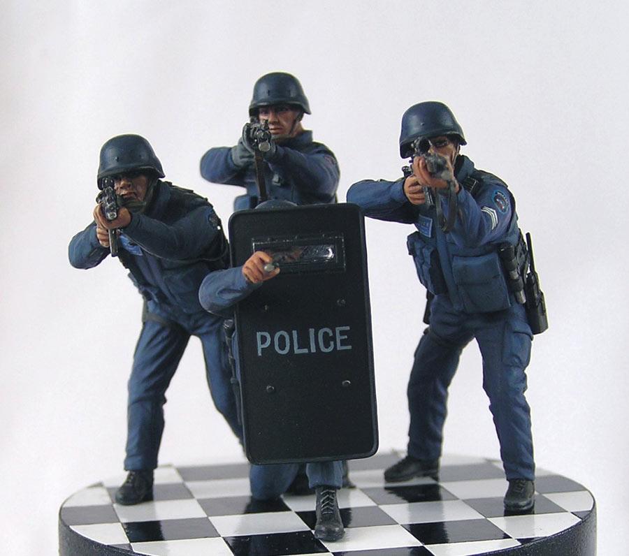 Dioramas and Vignettes: NYPD ESU. Advertising photo, photo #3