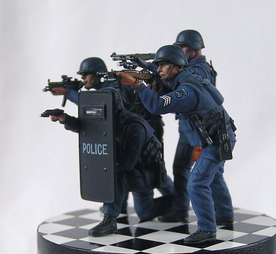 Dioramas and Vignettes: NYPD ESU. Advertising photo, photo #4