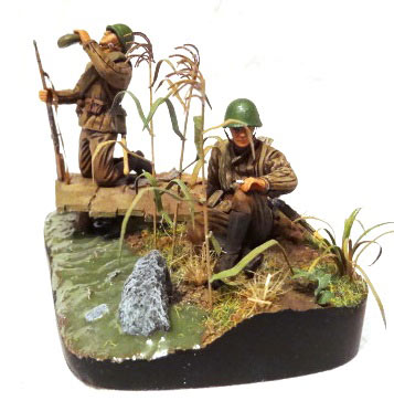 Dioramas and Vignettes: Soviet machine gunners., photo #5