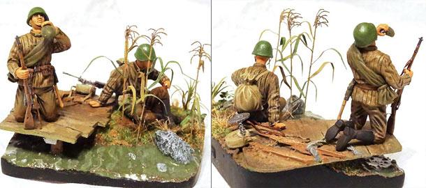 Dioramas and Vignettes: Soviet machine gunners.
