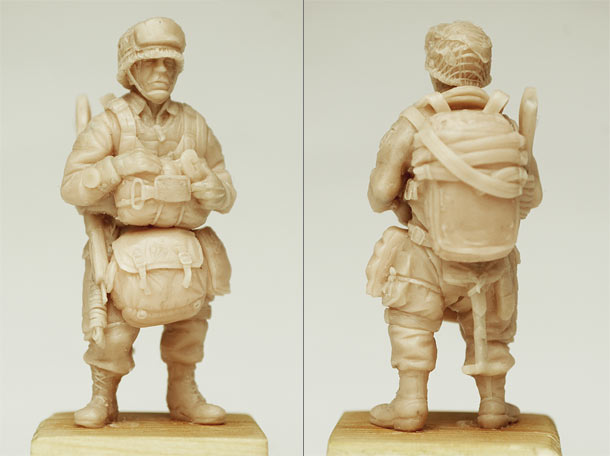 Sculpture: U.S. airborne trooper, 1944