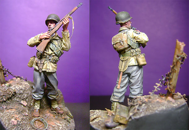 Figures: Private, 327th glider regt.