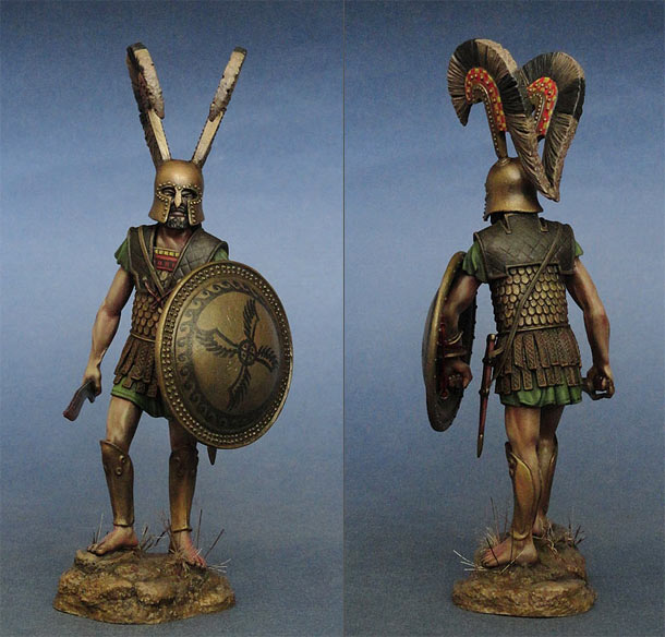 Figures: Greek hoplite. Thermopylae, 480 B.C.