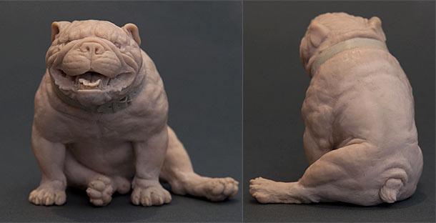Sculpture: Angel Bulldog
