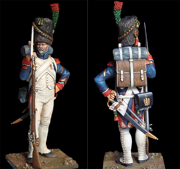 Figures: Sergeanr, shasseurs of Old Guard. 1810-15