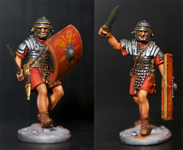 Figures: Romans and Barbarian