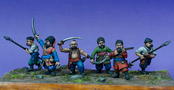 Figures: Ukrainian cossacks, 17th cent.