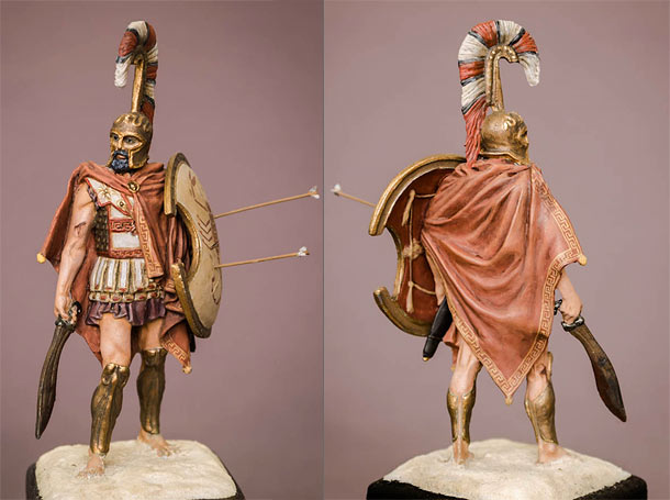 Figures: Greek hoplite, 5th cent. B.C.