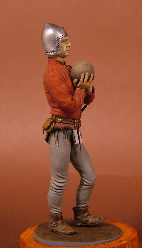 Figures: European artilleryman, 15th A.D., photo #5