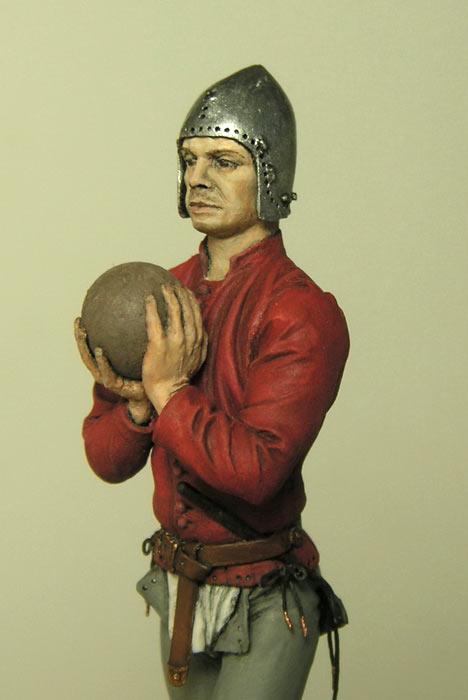Figures: European artilleryman, 15th A.D., photo #7