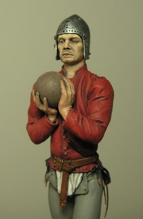 Figures: European artilleryman, 15th A.D., photo #8