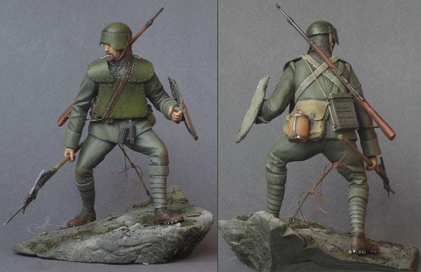 Figures: Italian ardito, 1916