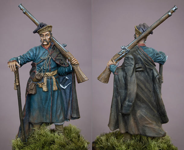 Figures: Enlisted cossack, 17th cent.