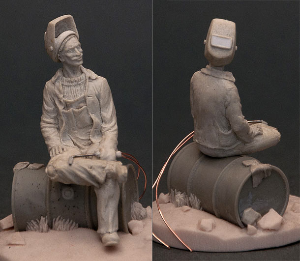 Sculpture: Welder at rest