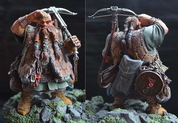Miscellaneous: Dwarf with a crossbow
