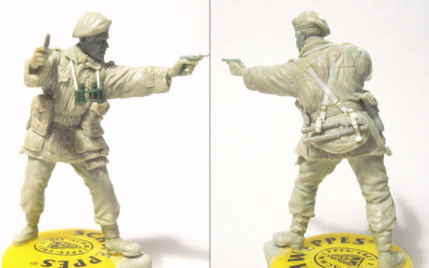 Sculpture: British SAS commander